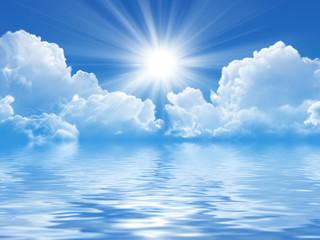 Sun sky and sea