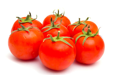 Red tomatoes isolated on a