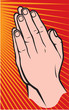 Praying hands (vector illustration of hands folded in prayer)