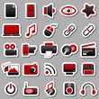 multimedia Red Stickers