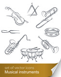 set musical instrument vector