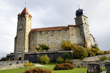 Towers of Coburg Castle in Bavaria, Germany