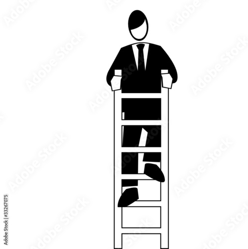 Symbolised business simple-end of the ladder
