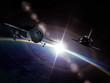 Spaceships on the orbit