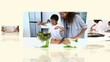 Montage of cooking families