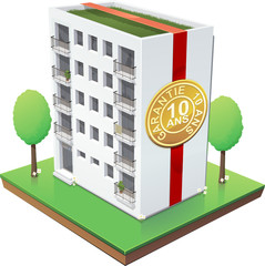 Immeuble et sa garantie décennale (détouré)