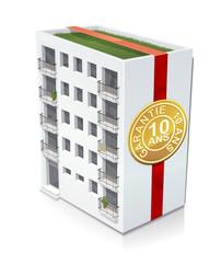 Immeuble et sa garantie décennale (reflet)