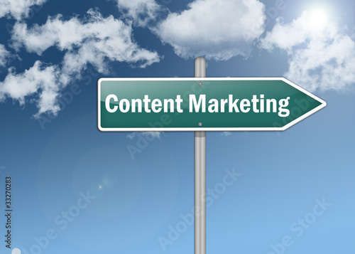 "Signpost ""Content Marketing"""