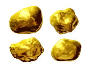 Gold, Goldklumpen, Goldnuggets, Goldstücke