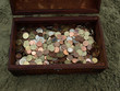 little chest full of euro coins