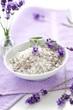 bath salt with lavender blossom