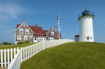 Nobska lighthouse located on Cape Cod, Massachusetts, USA