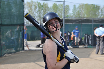 Smiling Softball Girl