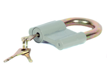isolated padlock with keys-2
