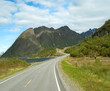 Road to mountains of Norway