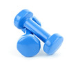 Blue dumbbell weights
