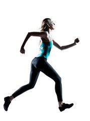 Young sporty woman jogging