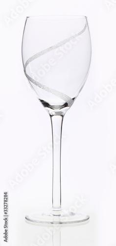 Weinglas leer