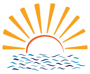 Sonne Meer Abstrakt