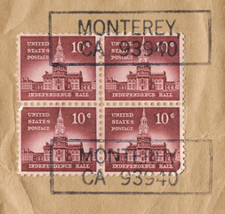 Independence Hall Liberty Stamps, 1956