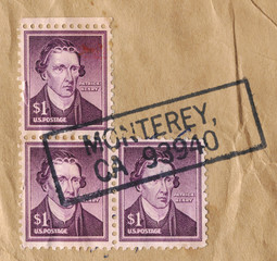 Patrick Henry One Dollar Stamps, 1955