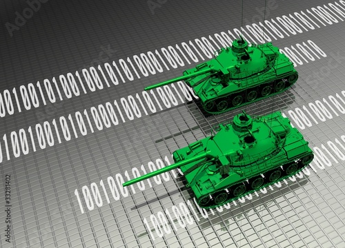 Virtual tanks attacking computer data