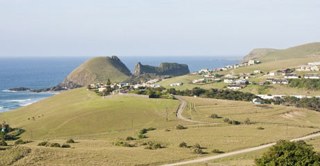 Hole in the wall landscape in South Africa Wild Coast