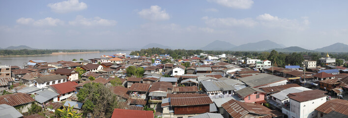 Panorama Of Villages Along The Mekong River