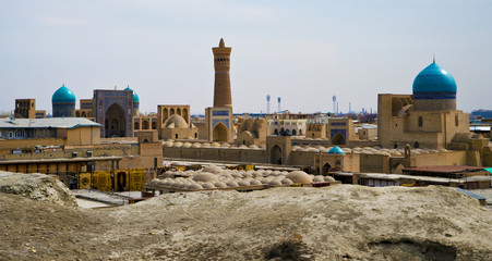 Panorama of Bukhara's old town