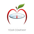 Logo slimming diet, apple # Vector