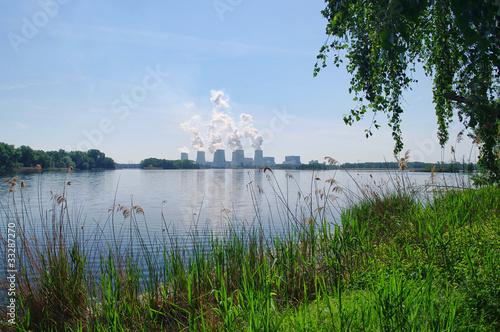 Leinwanddruck Bild power plant Jaenschwalde - Kraftwerk Jänschwalde 21
