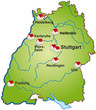 Baden-Württemberg Infokarte grün in SVG
