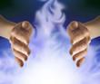 healer sensing white energy