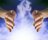 healer sensing white energy poster