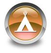 "Orange Glossy Pictogram ""Camping Symbol"""