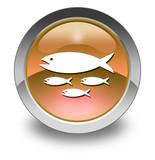 "Orange Glossy Pictogram ""Fish Hatchery"""