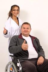 Daumen Hoch Pflegepersonal