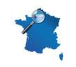 Rouen : Carte de France - département de la Seine-Maritime