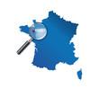 Rennes : Carte de France - département de l'Ille-et-Vilaine
