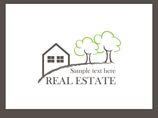 Immobilien Logo - Real Estate - Vector Template No. 5