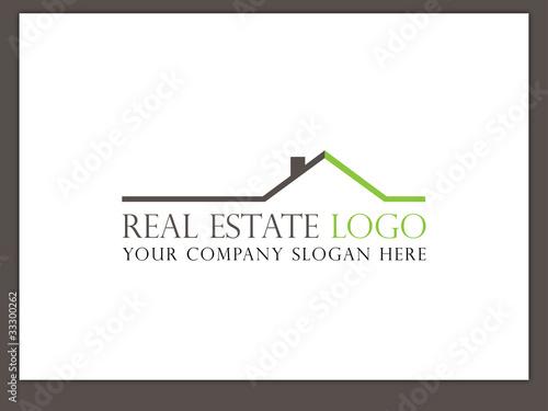 Immobilien Logo - Real Estate - Vector Template No. 12