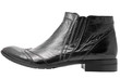 Black leather mens boot isolated