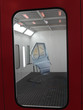 car door stands in a spray booth