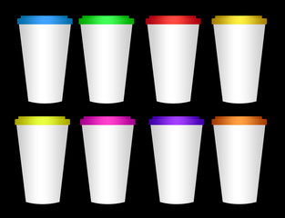 blank plastic cup