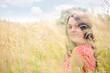 summer day. rural female portrait