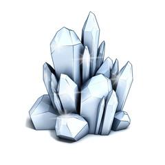 crystal 3d illustration