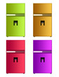 colored fridge