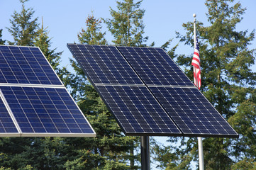 Green technology, solar panels for electricity production.