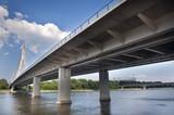 Modern bridge in Warsaw - 33304263