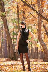 girl in the oak grove